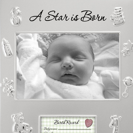 Malden寶寶出生紀念相框Malden A Star is Born Juvenile Picture Frame, Silver